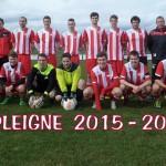 La première équipe du FC Pleigne, saison 2014/15Manquants sur la photo: Romain Guenat, Florent Willemin, Nolan Brosy